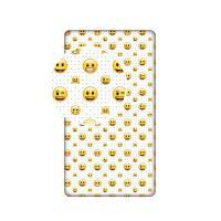 Prestieradlo Emoji , Barva - Žltá , Rozměr textilu - 90x200