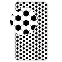 Prostěradlo Fotbal , Barva - Bielo-čierna , Rozměr textilu - 90x200