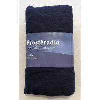 Plachta Jersey , Barva - Tmavo modrá , Rozměr textilu - 90x200