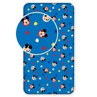 Prestieradlo Mickey 004 , Barva - Modrá , Rozměr textilu - 90x200