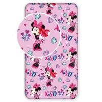 Prostěradlo Minnie pink , Barva - Ružová , Rozměr textilu - 90x200