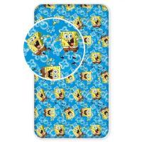 Prostěradlo Sponge Bob , Rozměr textilu - 90x200 , Barva - Modrá