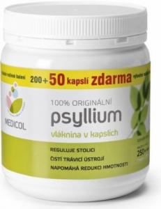 Psyllium - kapsule 250 , Velikost balení - 250 tabliet