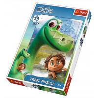Puzzle Hodný Dinosaurus 24 dílků , Barva - Zelená