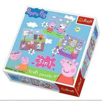 Puzzle Prasiatko Peppa Pig 3v1 Kamaráti , Barva - Barevná