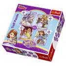 Puzzle Princezná Sofia Prvá 4v1 , Barva - Barevná