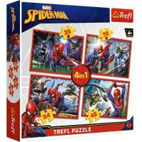 PUZZLE SPIDERMAN 4v1 , Barva - Barevná