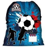 Vrecúško na prezuvky Futbal , Barva - Modrá