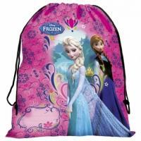 Vrecúško na prezuvky Frozen , Barva - Malinová