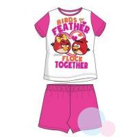 Pyžamo ANGRY BIRDS , Barva - Ružovo-biela , Velikost - 104
