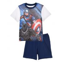 PYŽAMO Avengers , Velikost - 104 , Barva - Bielo-modrá