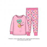 Pyžamo BFF srdiečka , Velikost - 134/140 , Barva - Ružová