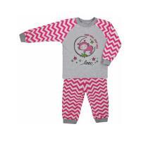 Pyžamo Cik-Cak , Barva - Ružová , Velikost - 116