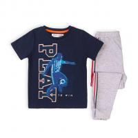 Pyžamo fotbalista , Velikost - 128/134 , Barva - Modro-šedá