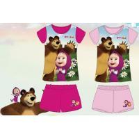 Pyžamo Máša a Medvěd , Barva - Svetlo ružová , Velikost - 116