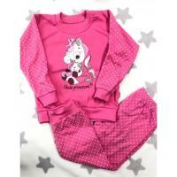 Pyžamo Jednorožec , Barva - Tmavo ružová , Velikost - 92