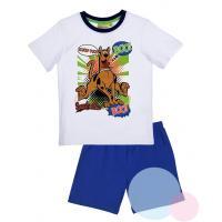 Pyžamo Scooby Doo , Barva - Bielo-modrá , Velikost - 98