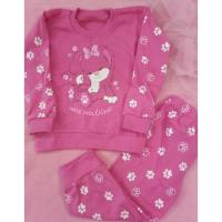 Pyžamo Tlapička , Barva - Tmavo ružová , Velikost - 104
