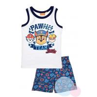 Pyžamo Paw Patrol , Barva - Bielo-modrá , Velikost - 104
