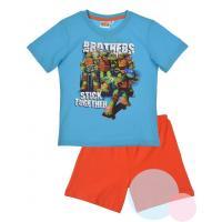 Pyžamo Ninja Korytnačky , Barva - Modro-oranžová , Velikost - 98