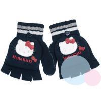 Rukavice Hello Kitty 2v1 , Velikost - Uni , Barva - Tmavo modrá