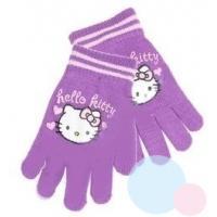 Rukavice Hello Kitty , Velikost - Uni , Barva - Fialová
