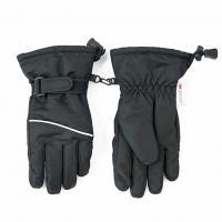 Lyžařské rukavice prstové , Velikost - 140/146 , Barva - Čierna