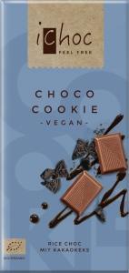 Ryžová čokoláda se sušienkami cookie iChoc BIO
