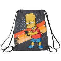 Pytlík na přezůvky Bart Simpson , Barva - Tmavo šedá