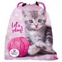 Vrecúško na telocvik SWEET PETS MAČKA , Barva - Ružová