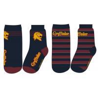 PONOŽKY HARRY POTTER 2ks , Velikost ponožky - 23-26 , Barva - Černo-červená