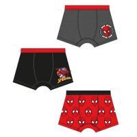 BOXERKY SPIDERMAN 3ks , Velikost - 134/140 , Barva - Černo-červená