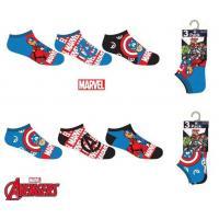 PONOŽKY AVENGERS 3ks , Velikost ponožky - 23-26 , Barva - Barevná