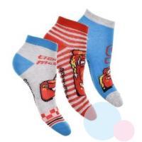 Ponožky Cars kotníkové 3ks , Velikost ponožky - 23-26