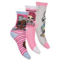 PONOŽKY LOL Surprise 3ks , Velikost ponožky - 23-26 , Barva - Ružová
