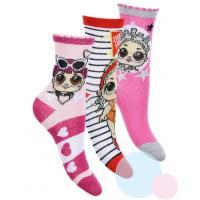 PONOŽKY LOL Surprise 3ks , Barva - Ružová , Velikost ponožky - 23-26