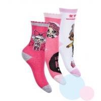 PONOŽKY LOL Surprise 3ks , Barva - Barevná , Velikost ponožky - 23-26
