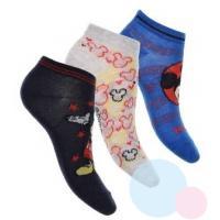 Ponožky Mickey kotníkové 3ks , Velikost ponožky - 27-30