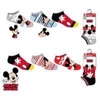PONOŽKY MICKEY  3ks , Velikost ponožky - 31-34 , Barva - Barevná