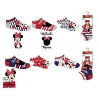 PONOŽKY MINNIE 3ks , Velikost ponožky - 31-34 , Barva - Barevná