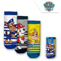 PONOŽKY TLAPKOVÁ PATROLA 3ks , Velikost ponožky - 23-26 , Barva - Barevná