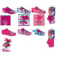 PONOŽKY TROLLOVÉ 3 ks , Velikost ponožky - 23-26 , Barva - Tmavo ružová