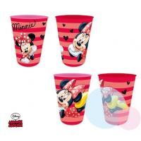 Plastové skleničky Minnie 4ks , Barva - Červená