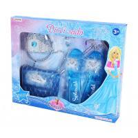Sada princezna zimní království s kabelkou , Barva - Modrá
