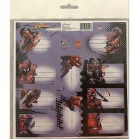 Samolepiace menovky Spiderman 2ks , Barva - Modrá