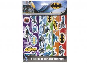 Samolepky Batman 5 listů , Barva - Barevná