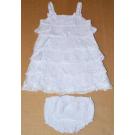 Šaty a nohavičky , Velikost - 62 , Barva - Biela