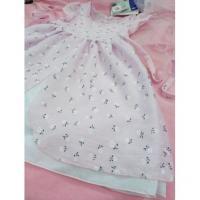 Šaty Bětuška , Velikost - 134 , Barva - Bílo-růžová