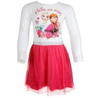 Šaty Ľadové Kráľovstvo , Velikost - 128 , Barva - Bílo-růžová