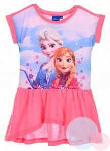 Šaty Frozen Anna a Elsa , Velikost - 128 , Barva - Ružová